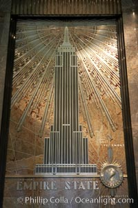 Artwork, entrance hall to the Empire State Building, Manhattan, New York City
