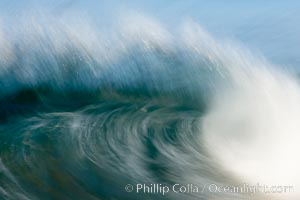 Breaking wave, fast motion and blur. The Wedge. Newport Beach, California, USA, natural history stock photograph, photo id 14362