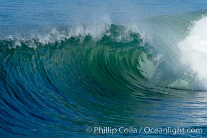 Breaking wave. The Wedge, Newport Beach, California