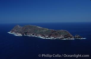 North Coronado Island, viewed from south, Coronado Islands (Islas Coronado)
