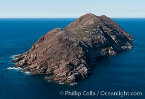 North Coronado Island, Mexico, southern point looking north, aerial photograph. Coronado Islands (Islas Coronado), Coronado Islands, Baja California, Mexico, natural history stock photograph, photo id 29054