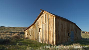Occidental barn. Bodie State Historical Park, California, USA, natural history stock photograph, photo id 23156