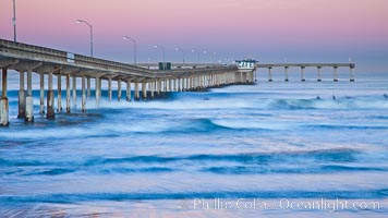 Ocean Beach Pier, also known as the OB Pier or Ocean Beach Municipal Pier, is the longest concrete pier on the West Coast measuring 1971 feet (601 m) long. San Diego, California, USA, natural history stock photograph, photo id 27391