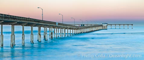 Ocean Beach Pier, also known as the OB Pier or Ocean Beach Municipal Pier, is the longest concrete pier on the West Coast measuring 1971 feet (601 m) long, San Diego, California