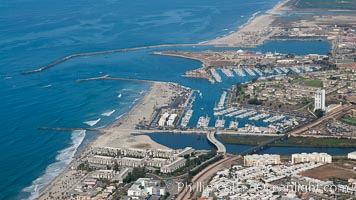 Oceanside Harbor, aerial photograph