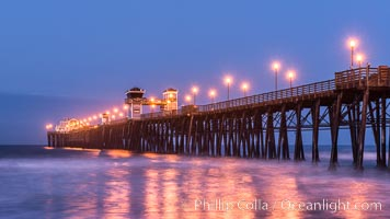 Oceanside Pier at Dawn. California, USA, natural history stock photograph, photo id 28876