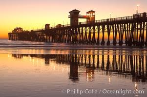 Oceanside Pier at dusk, sunset, night.  Oceanside