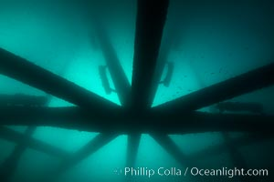Oil Rig Eureka, Underwater Structure. Long Beach, California, USA, natural history stock photograph, photo id 31080