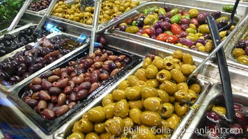 Olives for sale at the Public Market, Granville Island, Vancouver