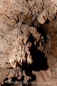 Limestone and marble underground formations  in Oregon Caves National Monument.  Eons of acidified groundwater have slowly etched away at marble, creating the extensive and intricate cave formations in Oregon Caves National Monument