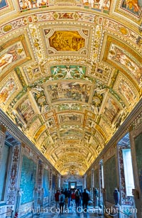 Ornate Ceiling Details, Vatican Museums, Vatican City, Rome, Italy