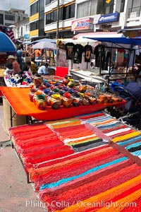 Otavalo market, a large and famous Andean market high in the Ecuadorian mountains, is crowded with locals and tourists each Saturday. San Pablo del Lago, natural history stock photograph, photo id 16798