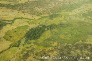 Over central Kenya, showing agricultural regions. Kenya, natural history stock photograph, photo id 29766