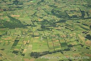 Over central Kenya, showing agricultural regions. Kenya, natural history stock photograph, photo id 29768