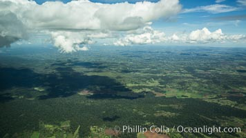 Over central Kenya, showing agricultural regions. Kenya, natural history stock photograph, photo id 29769