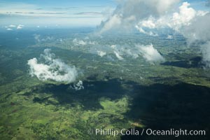 Over central Kenya, showing agricultural regions. Kenya, natural history stock photograph, photo id 29770