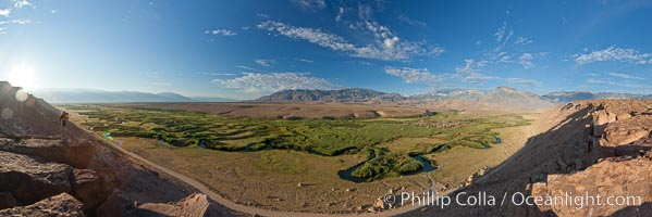 Owens River viewed from the Volcanic Tablelands near Bishop, California