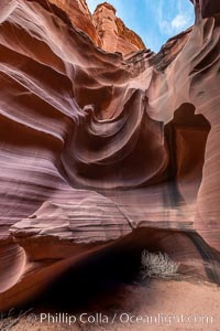 Owl Canyon, a beautiful slot canyon that is part of the larger Antelope Canyon system. Page, Arizona, Navajo Tribal Lands