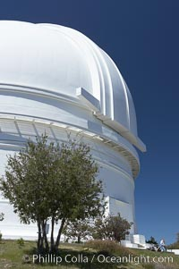 The Palomar Observatory, located in north San Diego County California, is owned and operated by the California Institute of Technology. The Observatory supports the research of the Caltech faculty, post-doctoral fellows and students, and the researchers at Caltechs collaborating institutions. Palomar Observatory is home to the historic Hale 200-inch telescope. Other facilities on the mountain include the 60-inch, 48-inch, 18-inch and the Snoop telescopes. Palomar Observatory, San Diego, California, USA, natural history stock photograph, photo id 12701