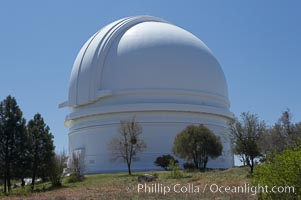 The Palomar Observatory, located in north San Diego County California, is owned and operated by the California Institute of Technology. The Observatory supports the research of the Caltech faculty, post-doctoral fellows and students, and the researchers at Caltechs collaborating institutions. Palomar Observatory is home to the historic Hale 200-inch telescope. Other facilities on the mountain include the 60-inch, 48-inch, 18-inch and the Snoop telescopes. Palomar Observatory, San Diego, California, USA, natural history stock photograph, photo id 12702