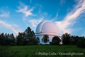Palomar Observatory at sunset. Palomar Mountain, California, USA, natural history stock photograph, photo id 29327