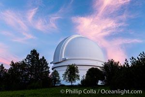 Palomar Observatory at sunset. Palomar Mountain, California, USA, natural history stock photograph, photo id 29329