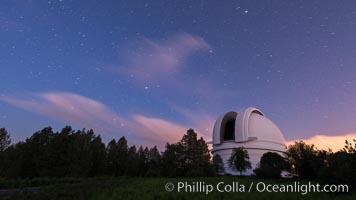 Palomar Observatory at sunset. Palomar Observatory, Palomar Mountain, California, USA, natural history stock photograph, photo id 29332