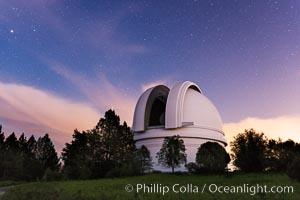 Palomar Observatory at sunset. Palomar Observatory, Palomar Mountain, California, USA, natural history stock photograph, photo id 29333