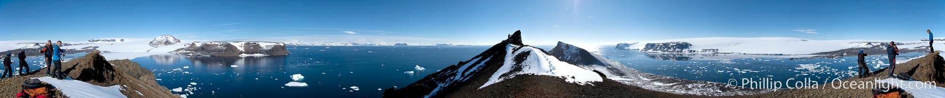 Panorama of Devil Island in Antarctica