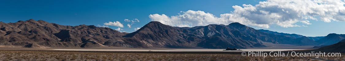 Panorama of the Racetrack at Death Valley, Racetrack Playa, Death Valley National Park, California