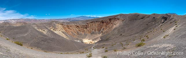 Panorama of Uhebehebe Crater in Death Valley, Death Valley National Park, California