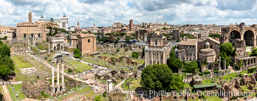 Panoramic view of the Roman Forum, Rome. Forum, Rome, Italy, natural history stock photograph, photo id 35562