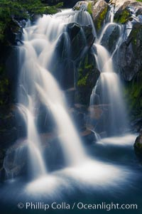 Paradise Falls tumble over rocks in Paradise Creek, Mount Rainier National Park, Washington