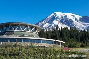 Paradise Park Visitor Center. Mount Rainier National Park, Washington, USA, natural history stock photograph, photo id 13909