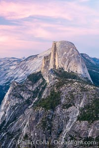 Pastel sunset light on Half Dome, Yosemite National Park