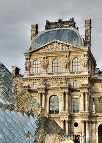 Image 28194, Pavilion Richelieu and Pyramide du Louvre, Musee du Louvre. Musee du Louvre, Paris, France, Phillip Colla, all rights reserved worldwide. Keywords: france, louvre, louvre museum, musee du louvre, museum, paris.