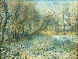 """Paysage de neige, Pierre-Auguste Renoir, Musee de l""""Orangerie, Musee de lOrangerie, Paris, France"""