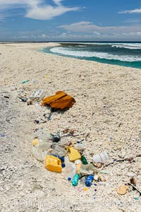 Plastic Trash and Debris, Clipperton Island. France, natural history stock photograph, photo id 33098