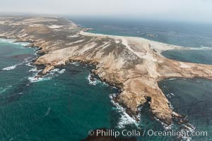 Point Bennett, San Miguel Island, aerial photograph. San Miguel Island, California, USA, natural history stock photograph, photo id 29381