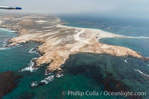 Point Bennett, San Miguel Island, aerial photograph. California, USA, natural history stock photograph, photo id 29382