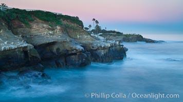 Point La Jolla at dawn. California, USA, natural history stock photograph, photo id 26445