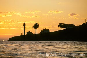 Point Loma lighthouse. San Diego, California, USA, natural history stock photograph, photo id 05510