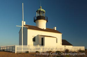 The old Point Loma lighthouse operated from 1855 to 1891 above the entrance to San Diego Bay.  It is now a maintained by the National Park Service and is part of Cabrillo National Monument