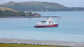 M/V Polar Star, icebreaker, at anchor in the Bay of Isles, Salisbury Plain