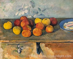 "Pommes et biscuits by Paul Cezanne, Musee de l""Orangerie. Musee de lOrangerie, Paris, France, natural history stock photograph, photo id 35690"