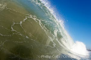 Morning surf, breaking wave, Ponto, Carlsbad, California