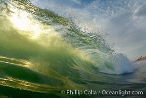 Sunset wave, Ponto, Carlsbad, California