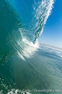 Breaking wave, early morning surf. Ponto, Carlsbad, California, USA, natural history stock photograph, photo id 19405