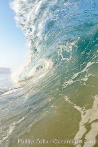 Breaking wave, early morning surf, Ponto, Carlsbad, California