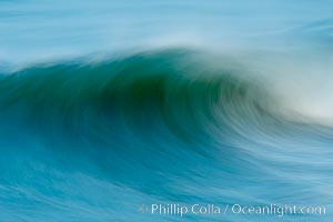 Breaking wave, fast motion and blur. Ponto, South Carlsbad, California. USA, natural history stock photograph, photo id 14436